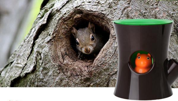 squirrel flowerpot