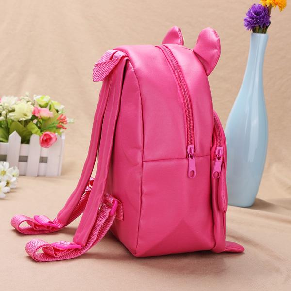 Baby Children Powder Bear Backpacks Cartoon School Bag Bookbag