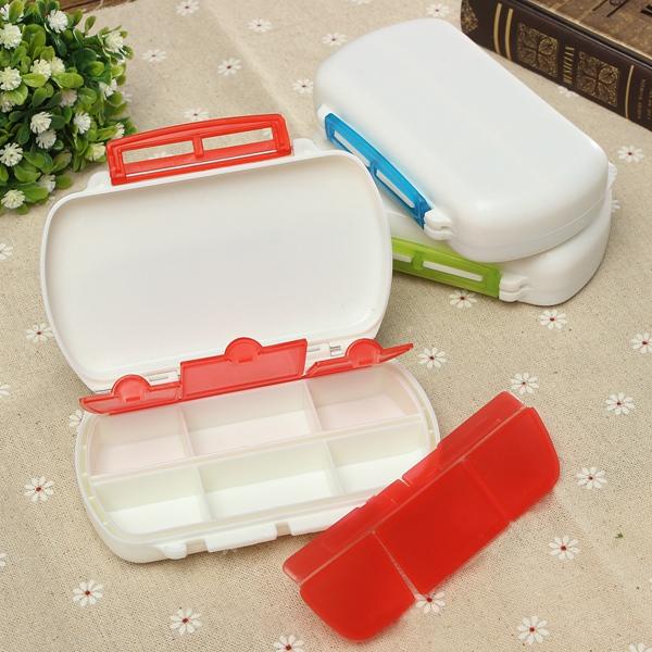 6 Cells Travel Medicine Pill Tablet Storage Organizer Case Box