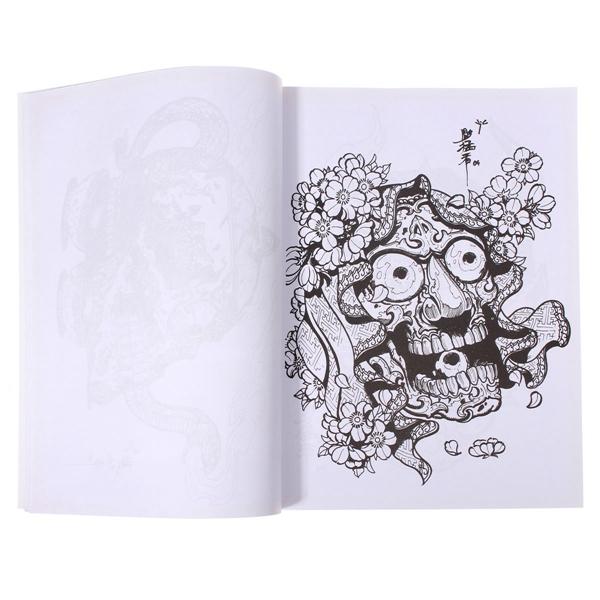 50 Pages Different Skulls Design Skeleton Tattoo Art Book Sketch
