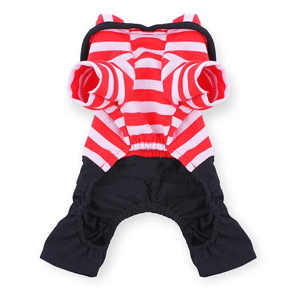 Pet Sailor Stripe Jumpsuit