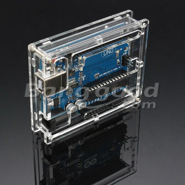 SKU187851bb 10Pcs Transparent Acrylic Shell Box For Arduino UNO R3 Module Board