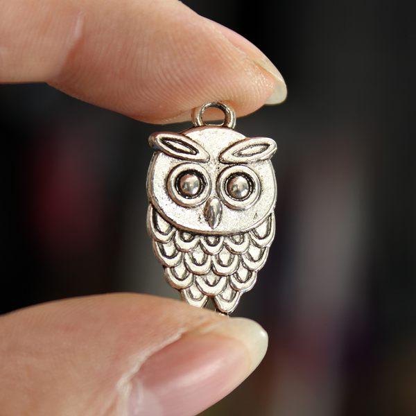 Owl Necklace Pendant Charm