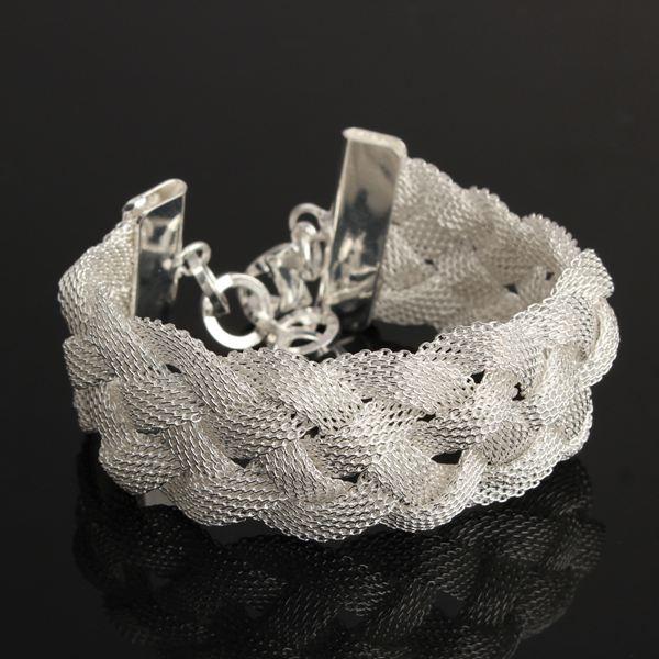 Braid Mesh Charm Chain Bracelet
