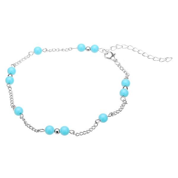 Silver Plated Anklet Bracelet