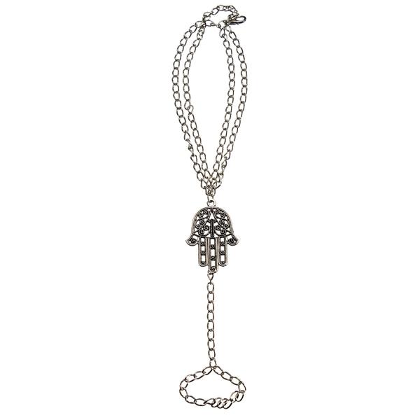 Hamsa Fatima Hand Ring Chain