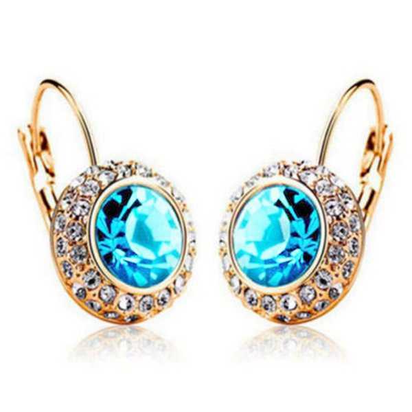 moon river crystal earrings
