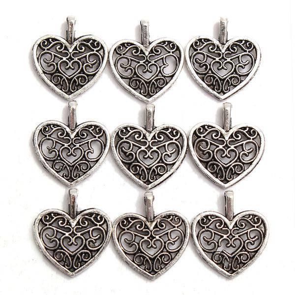 Tibetan Silver Heart Pendant