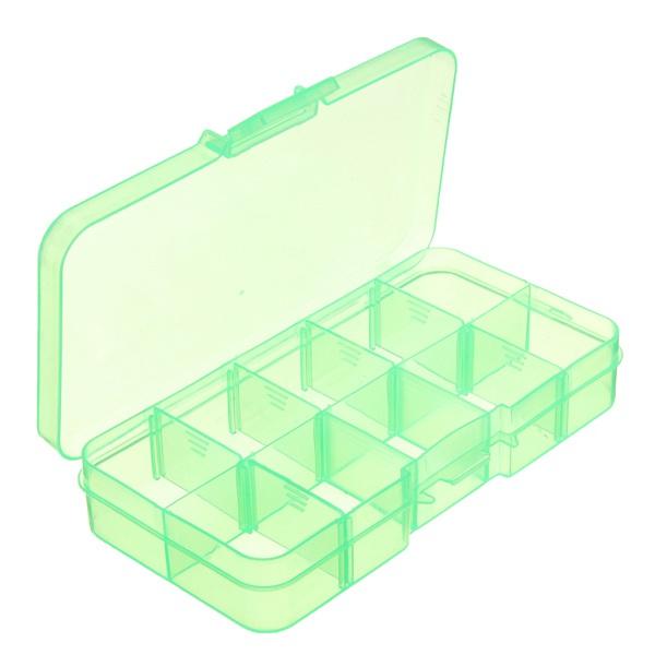 10 Compartments Plastic Box