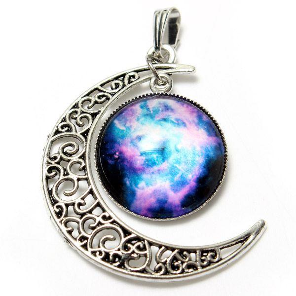 Galaxy Glass Cabochon Necklace