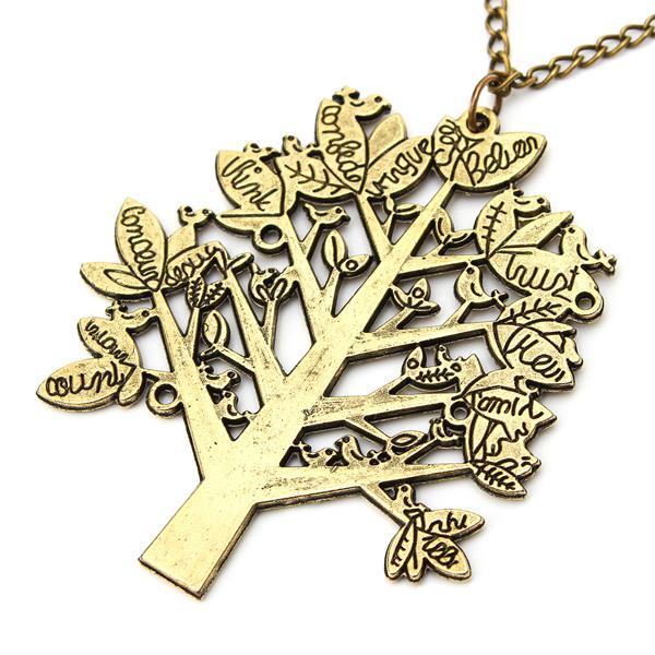 Vintage Birds Tree Necklace