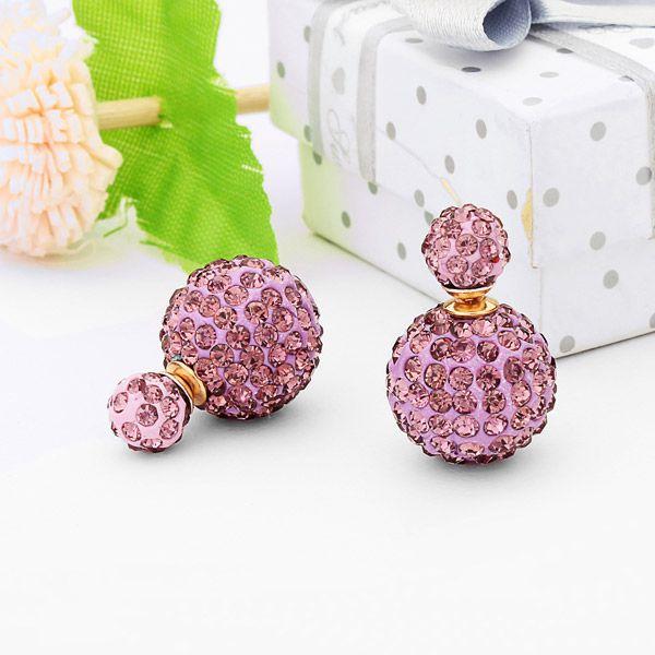 Full Rhinestone Balls Earrings