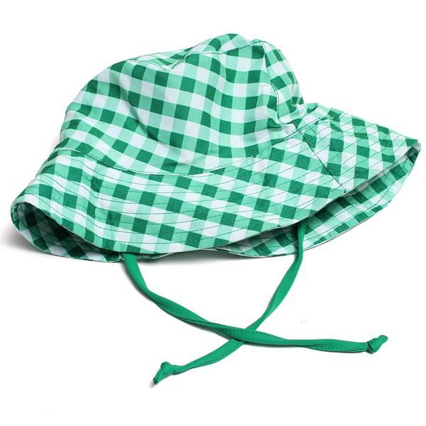 Summer Baby  Kid Girl  Boy Wide Brim Plaid  Cap Sun Hat  Sun Cap