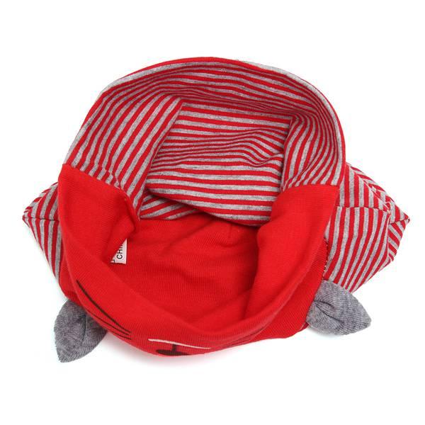 Baby Girl Boys Cute Animal Cat Soft Cotton Baggy Stripe Hat Cap