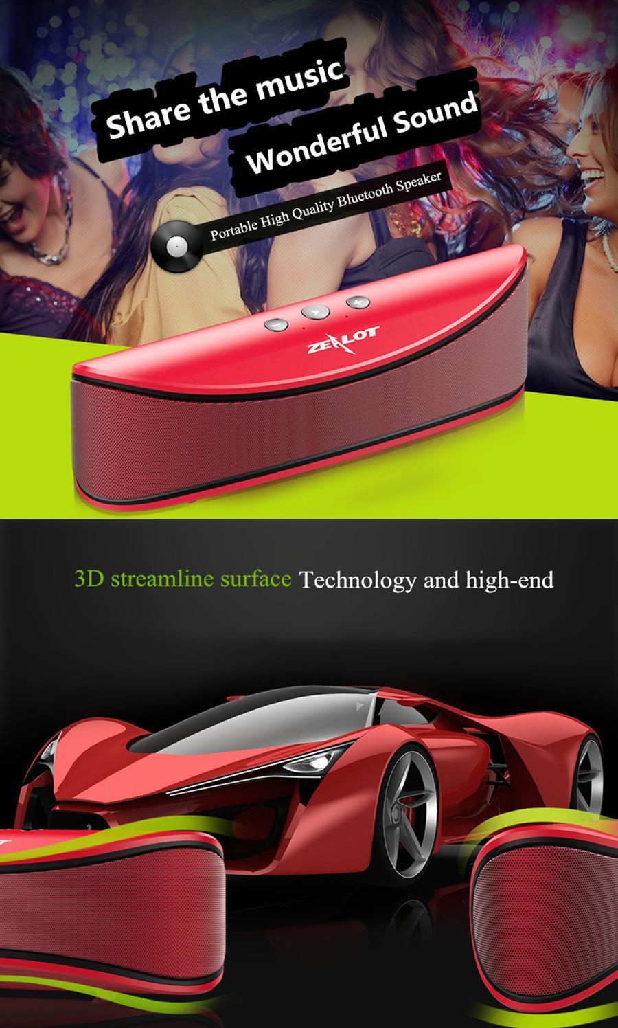 ZEALOT S2 4000mAh TF Card AUX Bluetooth Speaker