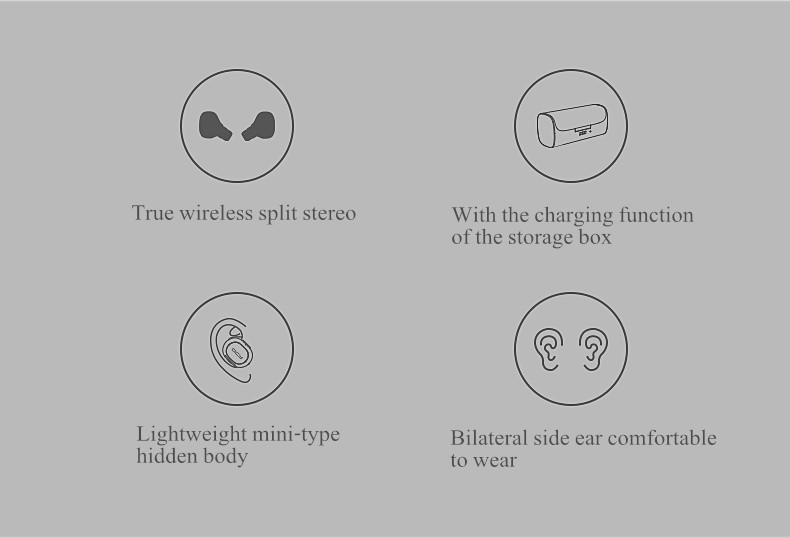 True Wireless QCY Q29 Mini Wireless Bluetooth 4.1 Double Dual Headphone Earphone With Charging Box