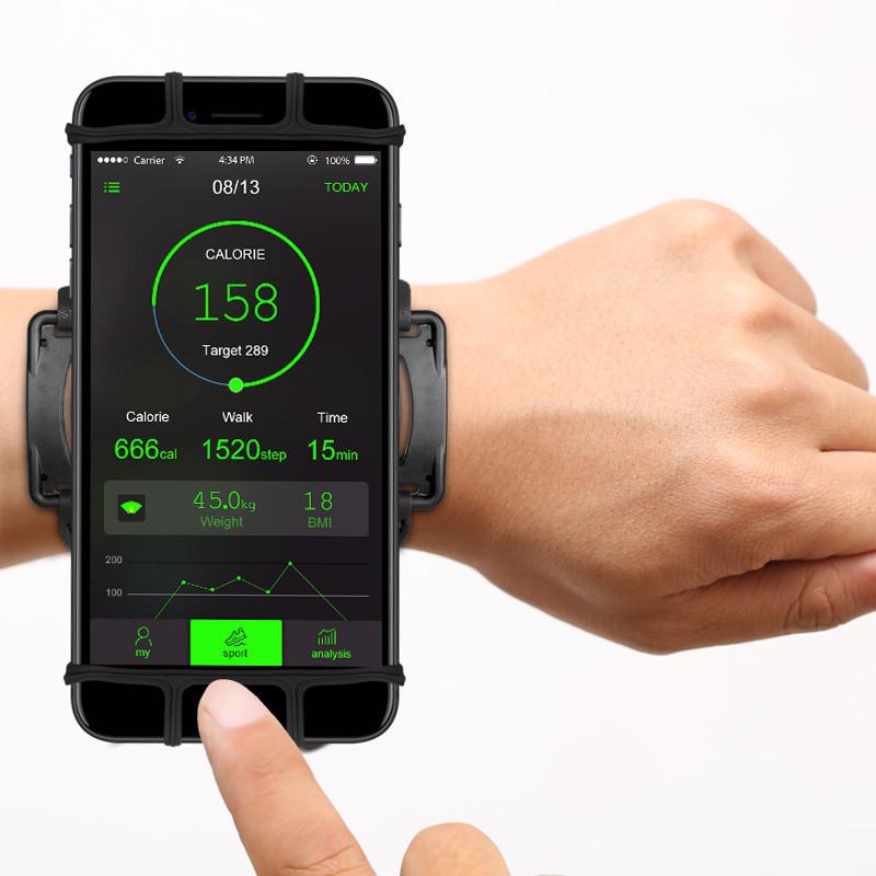 Умная электроника Спортивный регулируемый на 180° градусов VUP браслет на запястье  для смартфона 4-6 дюймов (Фото 1)