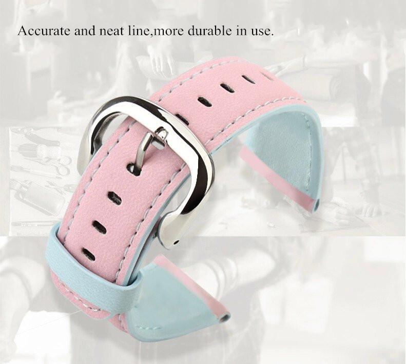BASEUS Soft PU Leather Watchband Strap Steel Buckle Wristband