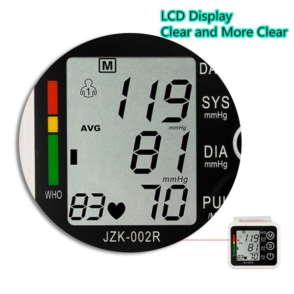 LCD Intellisense Electronic  Blood Pressure Monitor Pulse Digital Upper Arm Sphygmomanometer Meter