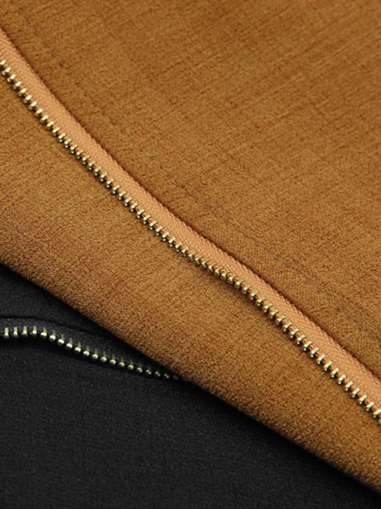 Work Zipper Short Jacket Detail