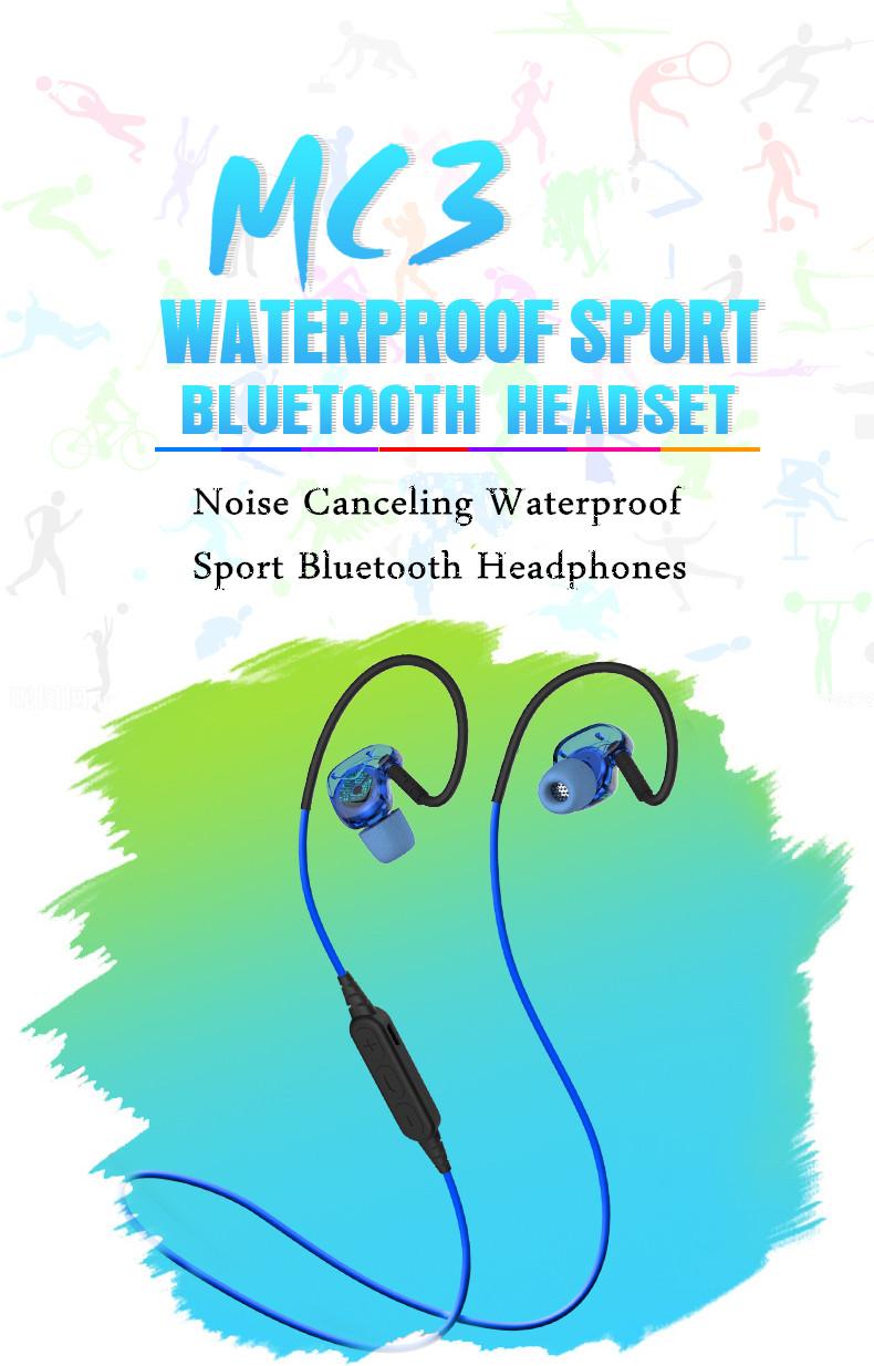 PLEXTONE BX240 Sport Waterproof IPX5 Passive Noise-Cancelling Wireless Bluetooth Headphones Earphone