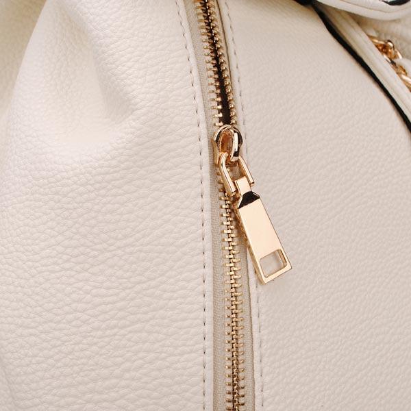 Women PU Leather Rivet Backpack Shoulder Bag