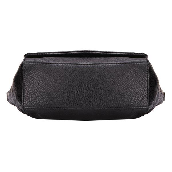 Punk Style PU Leather Black Rivet Shoulder Bag