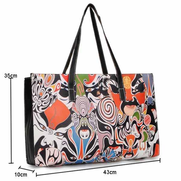 Women Casual Leather Printing Handbag Shoulder Bag