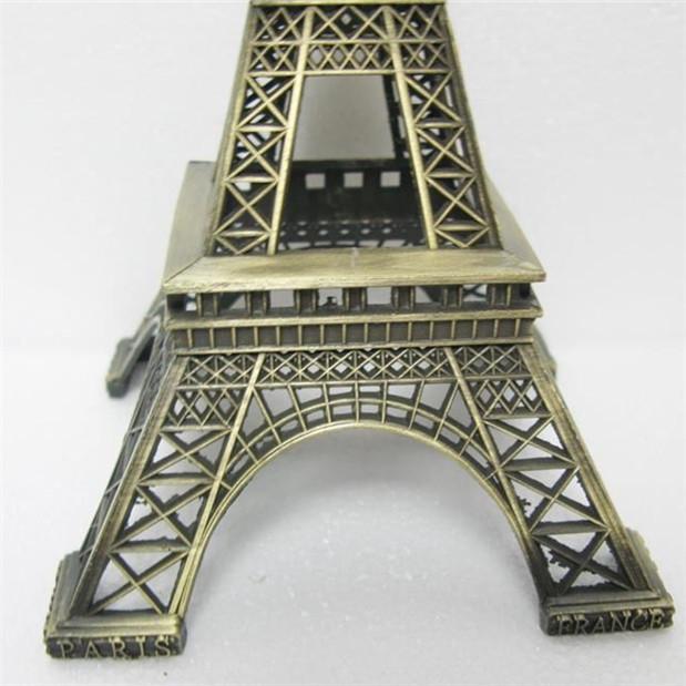 25cm Paris Eiffel Tower Antiqued Model Vintage Alloy Decoration