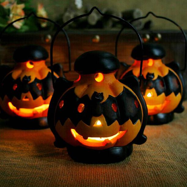 Other gadgets halloween decoration pumpkin light candlestick black cat bat - Idee de deco halloween ...