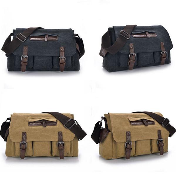 Men Women Casual Canvas Bag Messenger Shoulder Bag Handbag