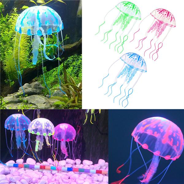 3.5CM Aquarium Fish Tank Glowing Effect Jellyfish Aquarium Ornament Decor