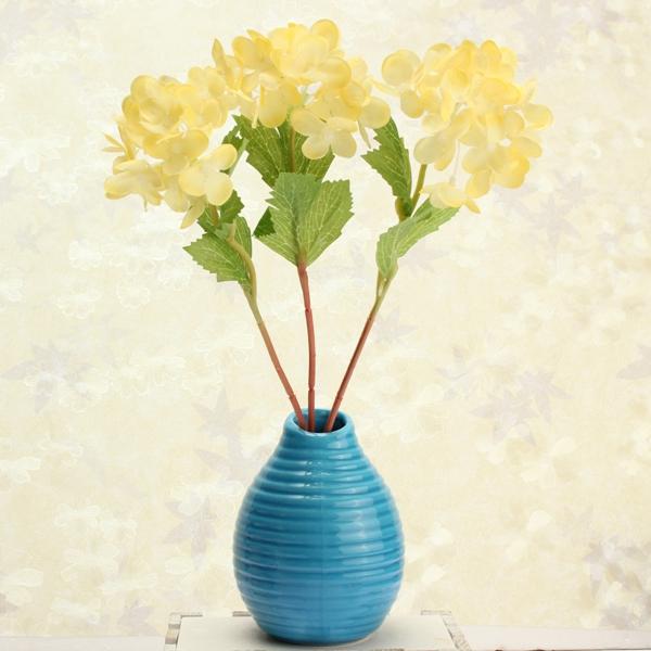 fleur artificielle soie nuptiale bouquet d'hortensia parti 5colors de décoration maison de mariage