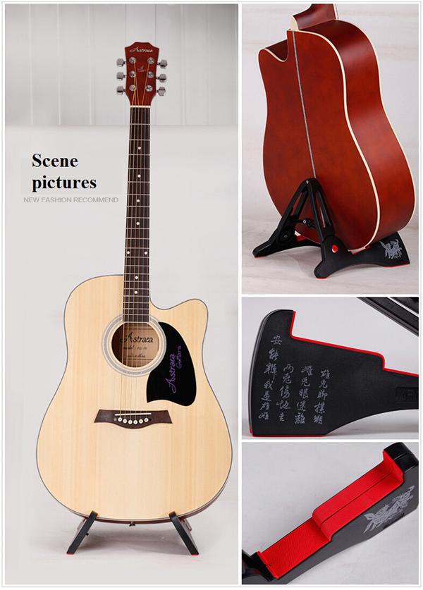 AROMA AGS-03 Folding Guitar Stand Guitar Frame Plastic Rack for Guitar - Photo: 5