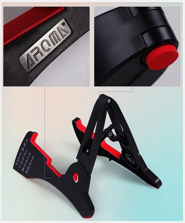 AROMA AGS-03 Folding Guitar Stand Guitar Frame Plastic Rack for Guitar - Photo: 3