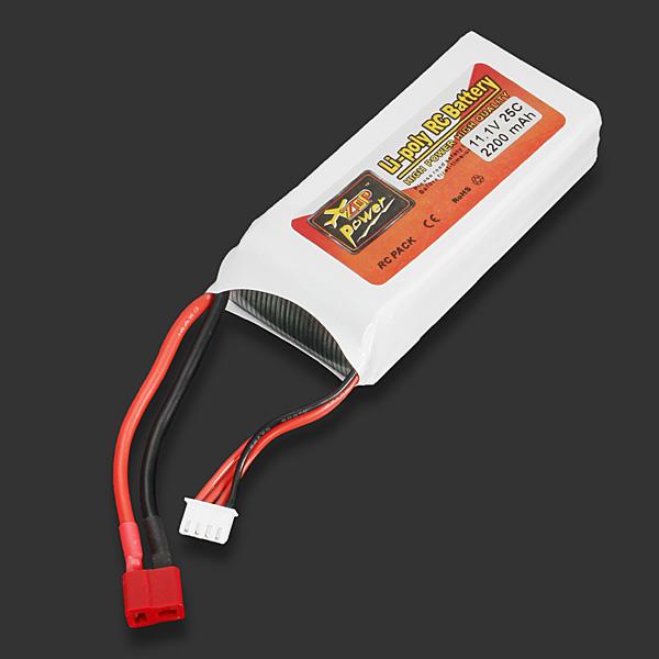 ZOP Power 11.1V 2200mAh 25C Lipo Battery T Plug - Photo: 3