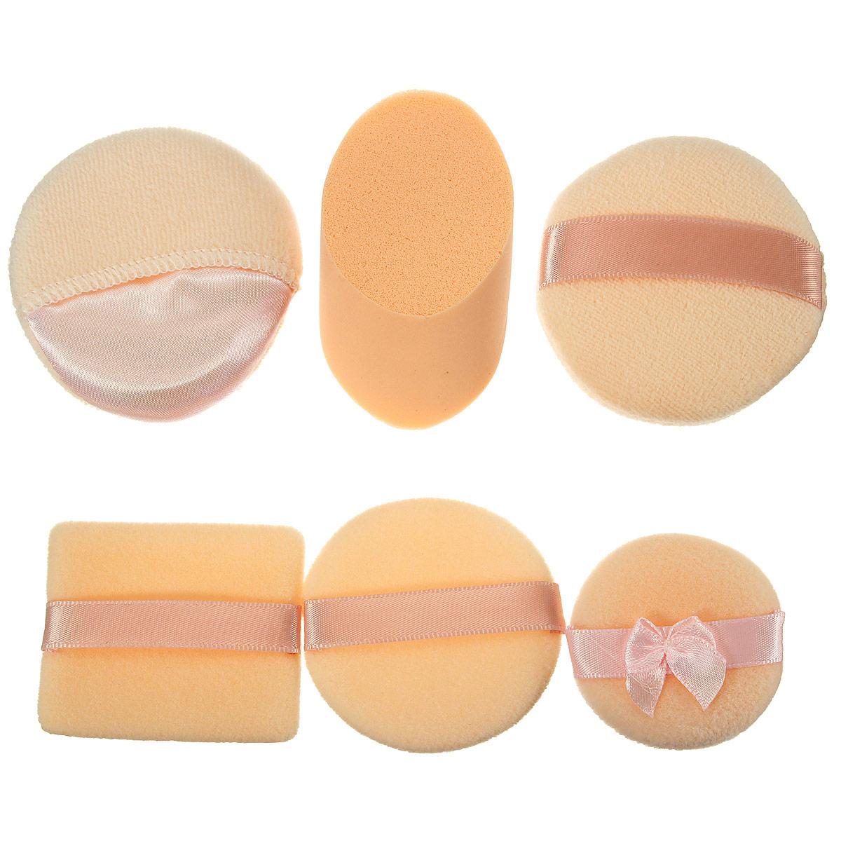 3pcs maquillaje suave borlas esponja cosméticos faciales establecen