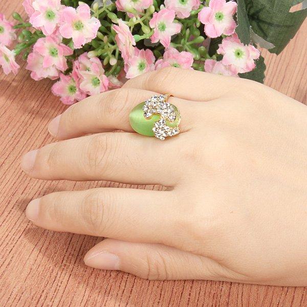 banhado a ouro opala anéis