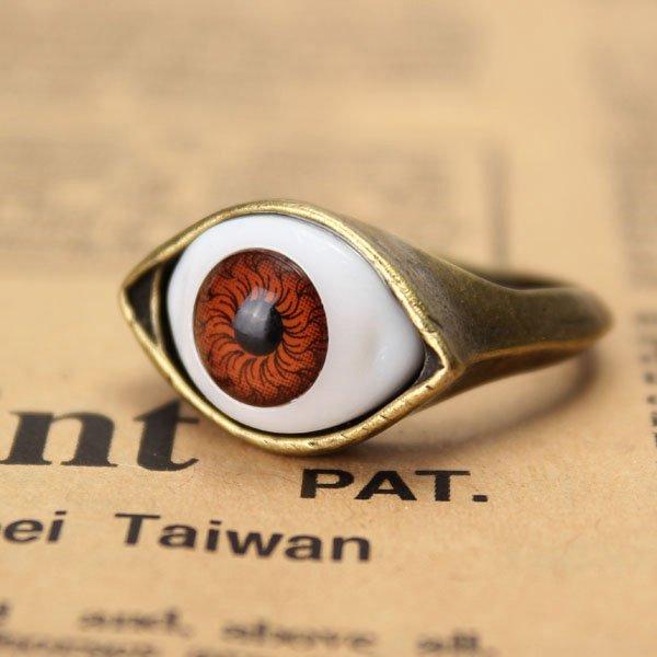 anel de dedo globo ocular