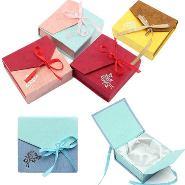 fita caixa de jóias bowknot