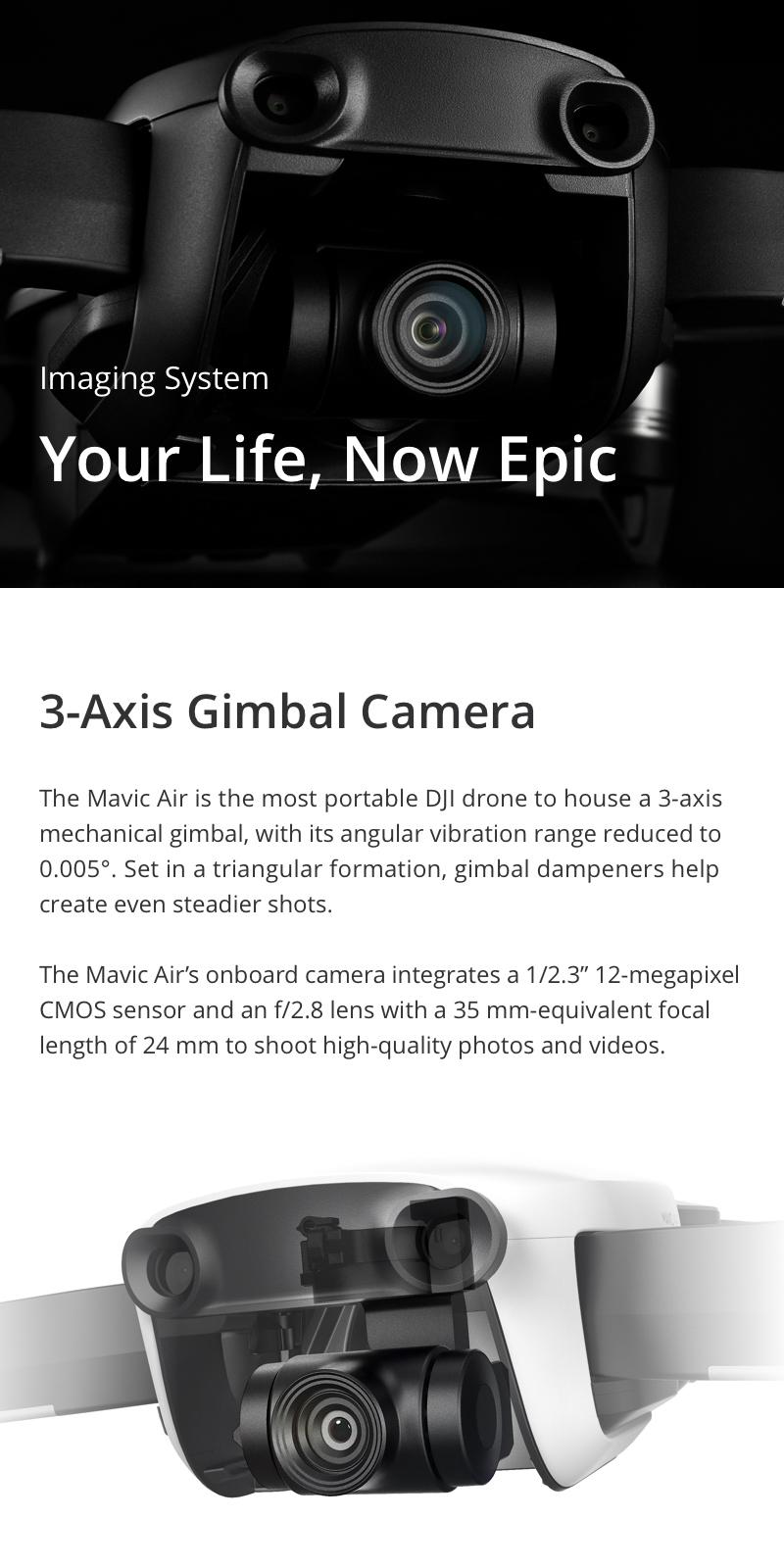 DJI Mavic Air 4KM FPV w/ 3-Axis Gimbal 4K Camera 32MP Sphere Panoramas RC Drone Quadcopter - Photo: 2