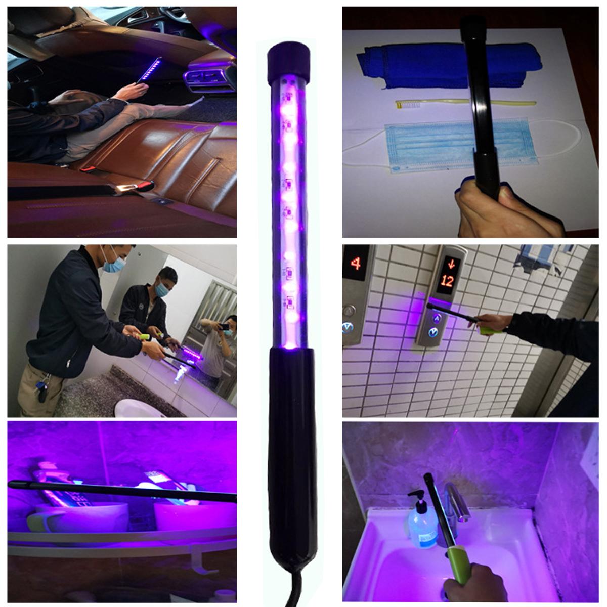 395NM Ultraviolet Flashlight Rechargeable Purple Torch Pet