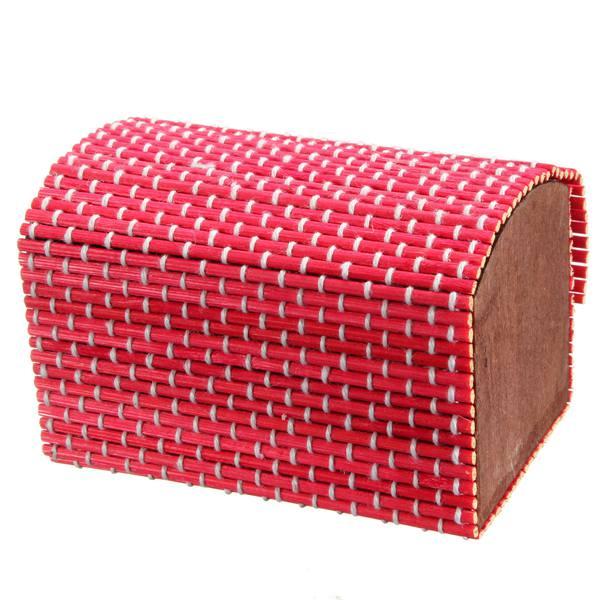 bambù scatola di legno fatti a mano quadrata