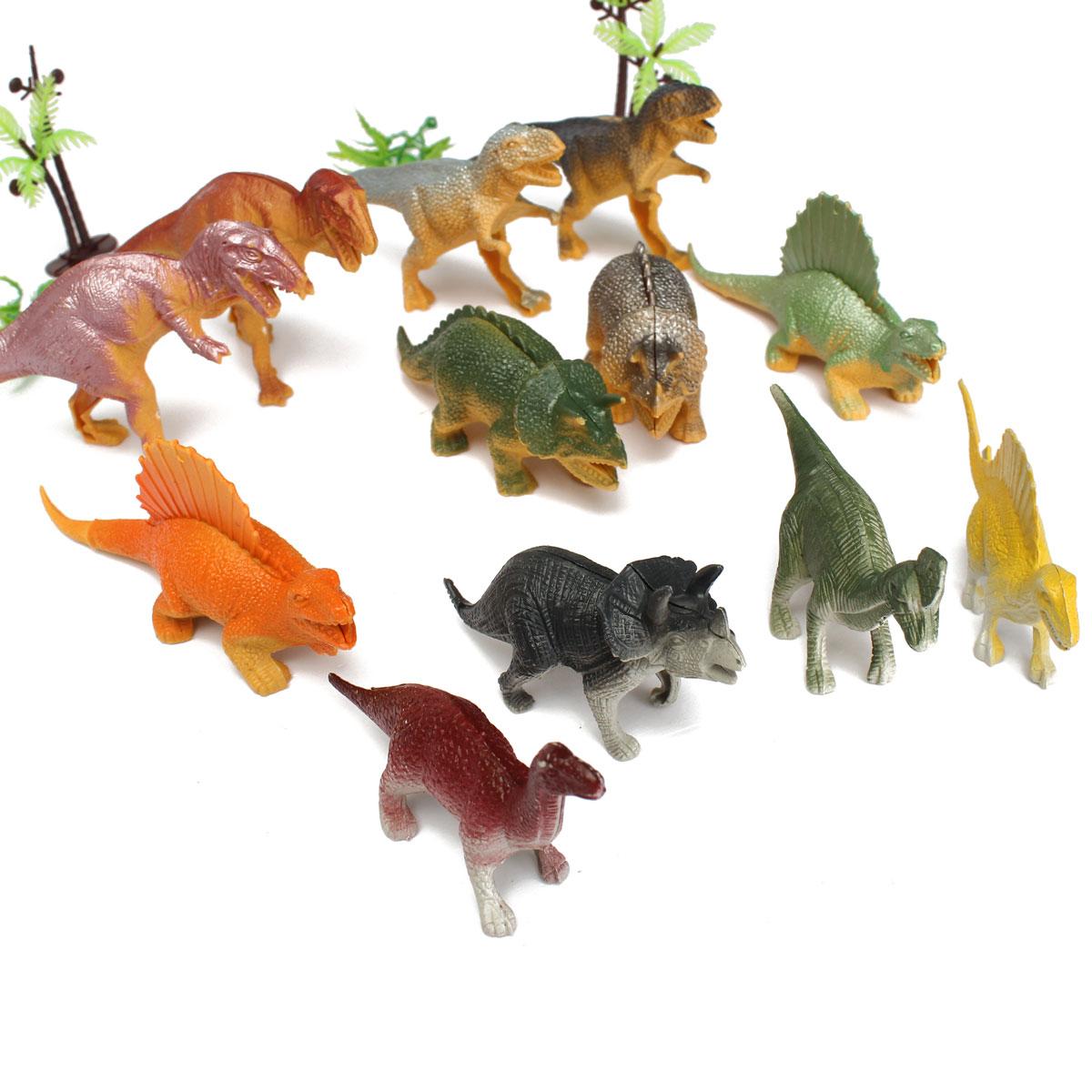 12PCS Mixed Dinosaur Toys Playset Christmas Stocking Filler Party Gift Figures - Photo: 5