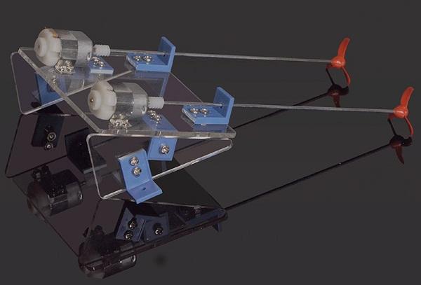 DIY Toy Dual Power Propeller RC Ship Assembled Kit - Photo: 2