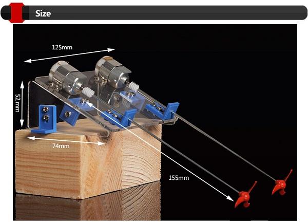 DIY Toy Dual Power Propeller RC Ship Assembled Kit - Photo: 3
